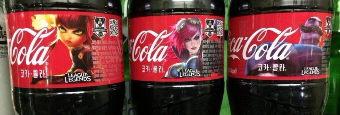 Botella de Coca LoL