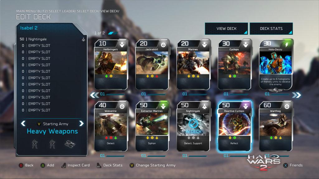 Halo Wars 2 Blitz Building a Deck