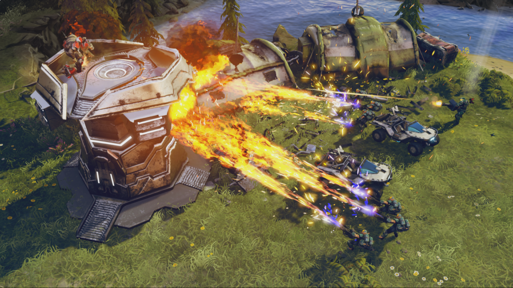 Halo Wars 2 Campaign One Three Zero Burning Tower